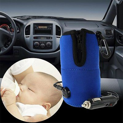 12V Food Milk Water Drink Bottle Cup Warmer Heater Car Auto Travel Baby SU