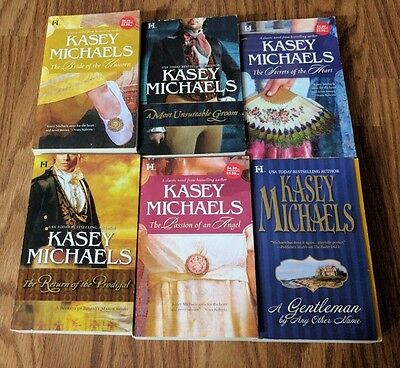 Kasey Michaels Historical Romance Book Lot Of 6 Paperback Novels Free Shipping!