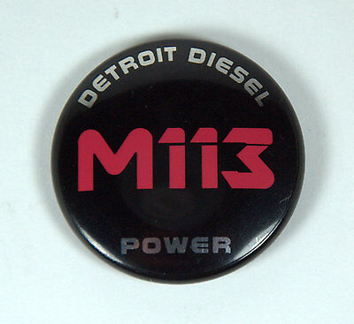 Vintage M113 Armored Personnel Carrier / Detroit Diesel Pinback Button US Army