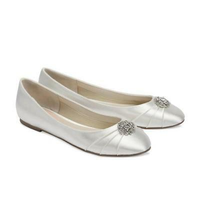 Flutter Ivory Flat Bridal Shoe - by Paradox London - Free Shipping