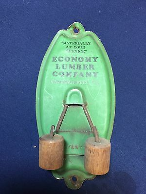 Vintage Broom Mop Holder Advertisement Economy Lumber Co. Christiansburg Va.