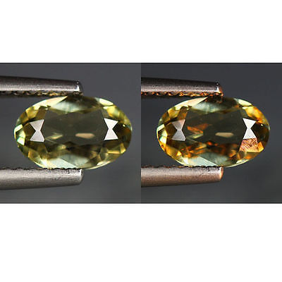 0.95 Cts_World Class Rarest Gemstone_100 % Natural Color Change Diaspore_Turkey