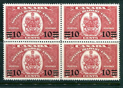 MNH Canada 10 Cent Special Delivery Block of 4 #E9 (Lot #B413)