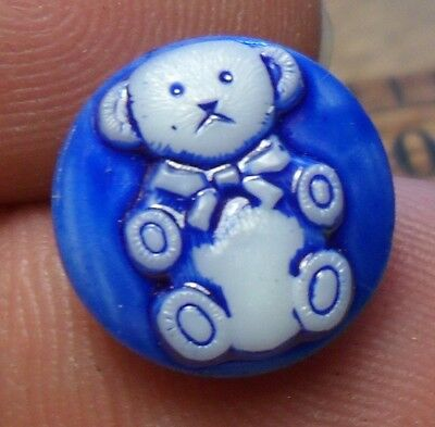 WOW 9/16 Nice Old Glass Antique Button 233:21