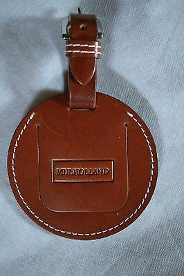 """Mulholland Brothers 4"""" Bag Tag - Bridle Tan - All Leather"""