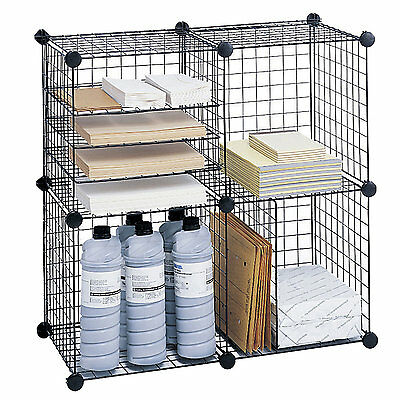 """Wire Cube Shelving System 5"""" Cube Unit Bookcase Safco Products Free Shipping"""