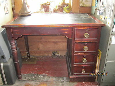 Empire Desk with inlaid leather top 1800's