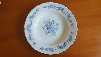 "Vintage Fine Bohemian China 8 1/4"" Soup Bowl  Made In Czechoslovakia"