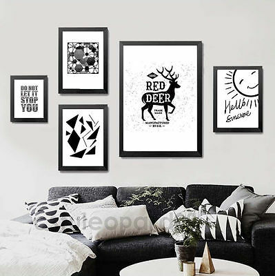 11719 Abstract Black White Minimalist Art Canvas Poster Picture Modern Decor