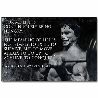 10627 Arnold Schwarzenegger Bodybuilding Fitness Motivational Quote Poster
