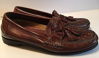 Johnson And Murphy Men's Loafers Brown Leather Tassels Sz 11