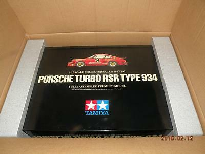 Tamiya 1/12 Porsche Turbo Rsr 934 Collectors Club Semi-Assembled Model # 23208