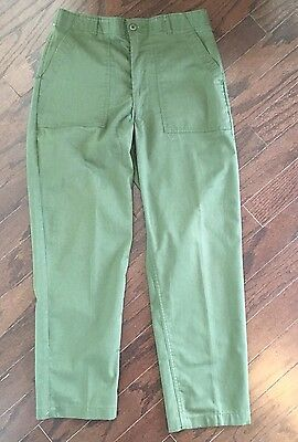 Vintage 80's OG-507 Army Utility Trousers 36 x 31 US Green Pants Camp