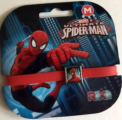 Ultimate Spider-Man red interchangeable charm elastic wristband ROXO NRFP!!