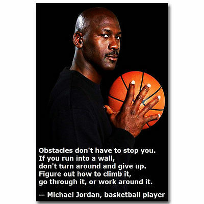 10748 Michael Jordan Motivational Succeed Quotes Basketball Poster