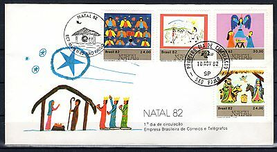 Brazil-1982-FDC (First Day Cover)-Commemorative Stamp- Christmas - Lot 800
