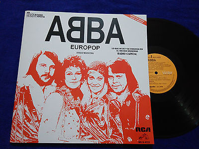 """Abba """"europop"""" Mexico Promotional Rare Mexican Issue Radio"""