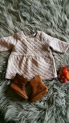 country road baby girl quilted top / dress winter girls pink 000
