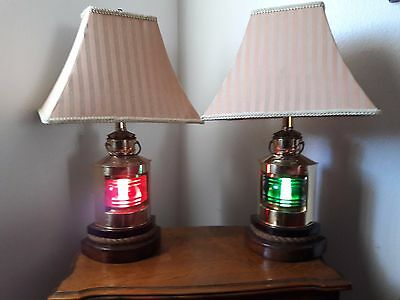 Vintage Copper Port And Starboard Nautical Table 3-WAY Lamps~Light Holland
