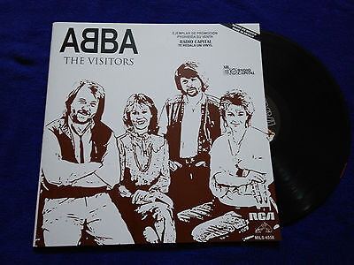 """Abba """"the Visitors"""" Mexico Promotional Rare Mexican Issue Radio"""