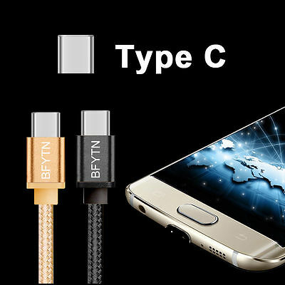 Braided USB C 3.1 Type-C Data Charging Cable Charge Cord for Samsung S8 +/Note 8