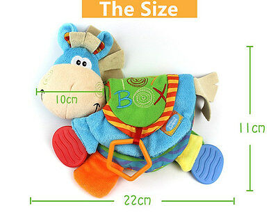 Cloth Teether Doll - Cute Donkey Early Development Teething Book BABY SAFE