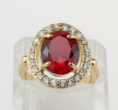 2.52 Carat Natural Ruby  Solid 14kt Yellow Gold Rings  Size6