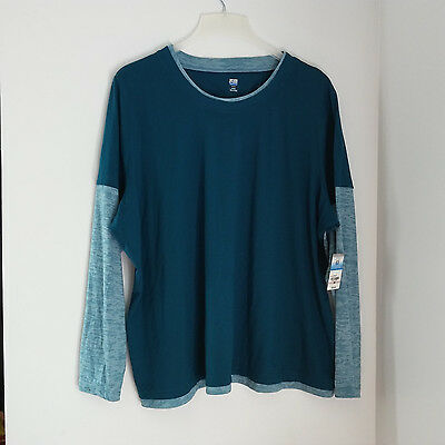 SJB ACTIVE Women's Top Size 3X Green Long Sleeve
