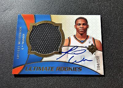 RUSSELL WESTBROOK Upper Deck Ultimate Rookie Patch Autograph /150 RC Auto SP MVP