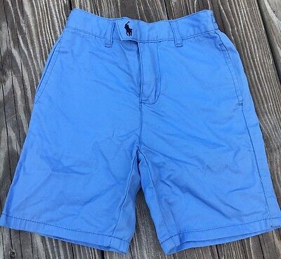 Polo Ralph Lauren Boy's Shorts Blue Cotton Dressy Flat Front Toddler Size 3T