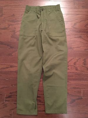 Vintage 80's OG-507 Army Pants Utility Trousers 32 x 33 US Green Fatigues