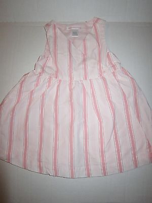 Janie and Jack Pink Striped Baby Girl Dress 12-18 months