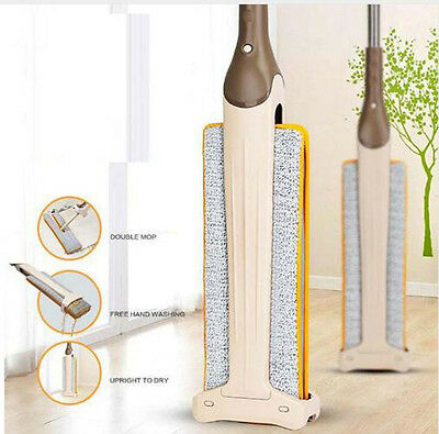 Lazy Hand free washing Flat Mop Double side Mopping Clean Tool