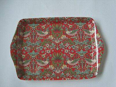 William Morris Birds Tapestry Small Melamine Snack Crumb Tray RED