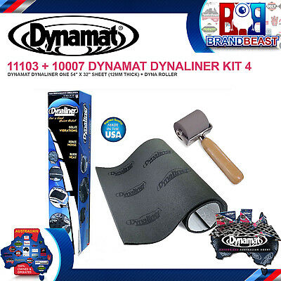 Dynamat Dynaliner 11103 Car Acoustic Thermal Insulation Sound Deadener + Roller