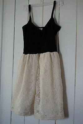 Girls size 7 dress, black with white double layer skirt