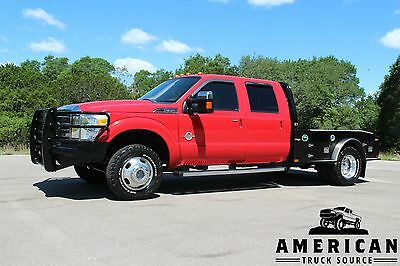 2012 Ford F-350 Lariat - 4x4 - FLATBED 2012 FORD F-350 LARIAT - 4x4 - DIESEL - SKIRTED FLATBED NAV ROOF - WE FINANCE!