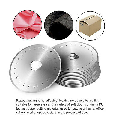 10pcs 45mm Rotary Cutter Refill Blades Sewing Quilting for Olfa Dafa Fiskars
