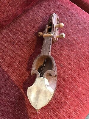 Vintage Antique Unique Elephant Wooden Musical String Instrument / WILL POST