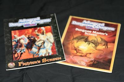 Advanced Dungeon & Dragons Dungeon Masters Screen W/module & Fighters Screen N/m