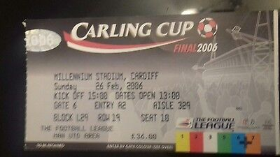 Carling cup final 2006 ticket stub