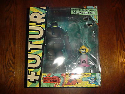 Futurama Destructor & Gender Bender Deluxe Box Set Sdcc Exclusive Toynami Mint