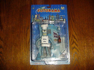 2000 Futurama Chef Bender Figure Moore Action Collectibles Previews Exclusive