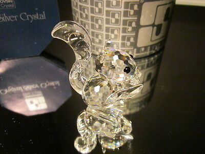 Swarovski Crystal Squirrel With Small Ears #011871/ 7662042000 Mib Retired