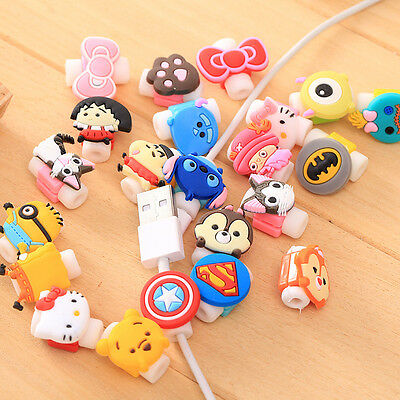Cute USB Data Charger Cable Saver Protector for iPhone 5c 5S 6 6S 7 Plus