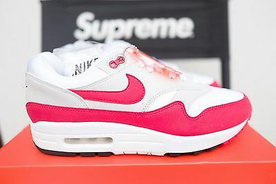 2017 Nike Air Max 1 Og Anniversary White/Red SIZE 8.5