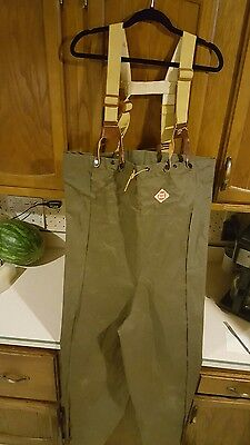 Vintage COMPLETE ANGLER Red Ball Waders Size MEDIUM mens fly fishing hodgman
