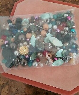 Vintage mix of   loose beads different shapes and colours#85