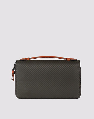 Dunhill Wallet - DUNHILL Mens Double zip to label companion chassis - Black