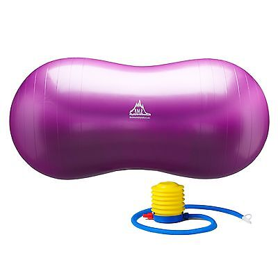 Black Mountain Products Peanut Ball Purple Peanut Stability Ball with Pump 10...